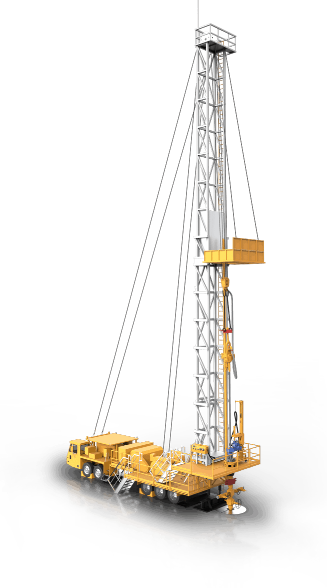 fleet of high spec service rigs with high operating capacity and mast heights