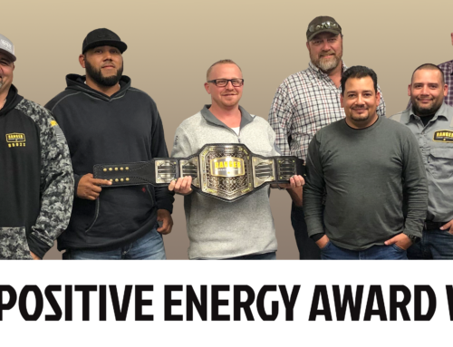Ranger Energy Services' Q3 2019 Positive Energy Belt awarded to team in Milliken, CO.