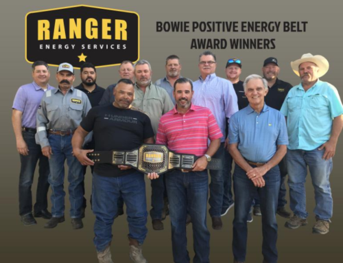 Ranger Energy Services' Q2 2019 Positive Energy Belt awarded to our MidCon team!