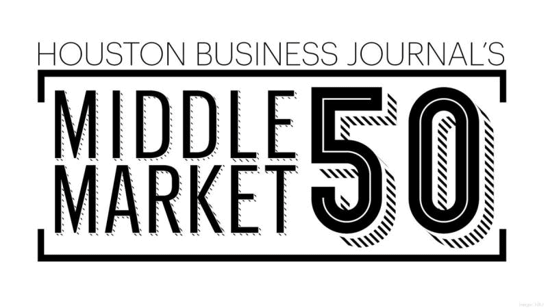 Houston Business Journal's Middle Market 50 graphic