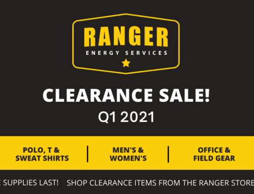 Ranger Energy Store Clearance Sale!