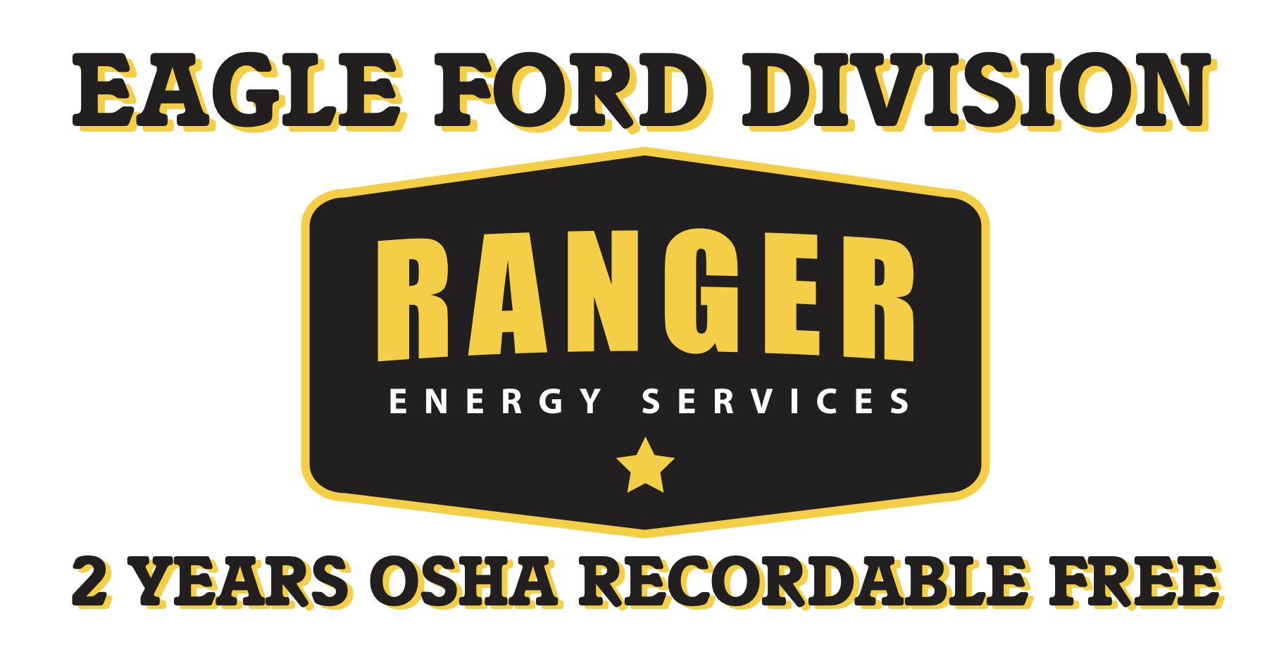 Ranger 2 years OSHA Recordable Free Graphic
