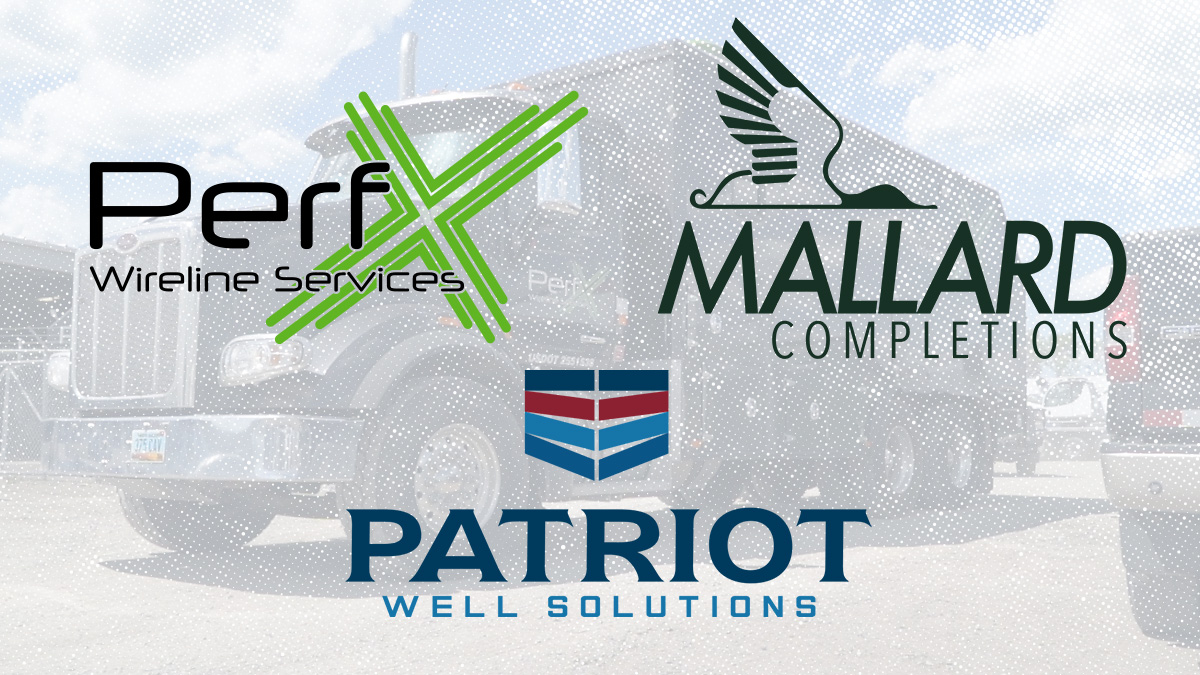 Ranger Wireline Companies Logos including PerfX logo, Mallard Completions logo, and Patriot Well Solutions logo