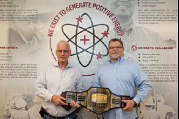 HSE Team receives Ranger Positive Energy Belt for covid response