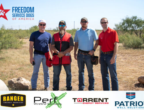 Ranger Energy Services sponsors Freedom Service Dogs of America Sporting Clay Tournament.